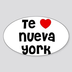 Te * Nueva York Oval Sticker